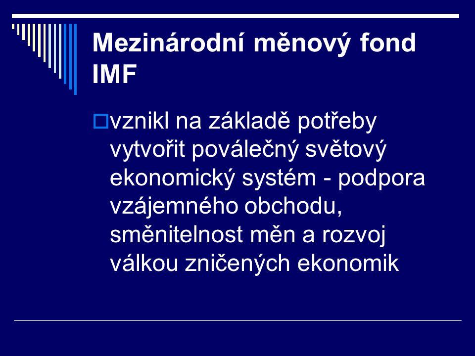 Mezinárodní měnový fond IMF