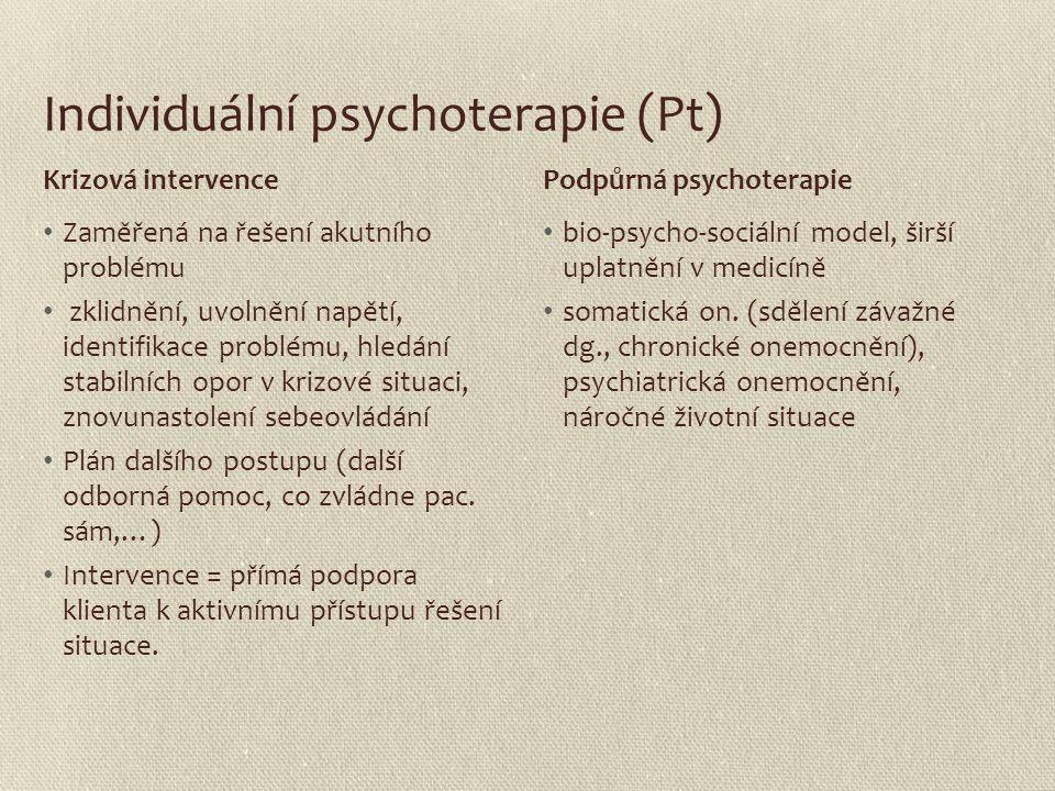 Individuální psychoterapie (Pt)