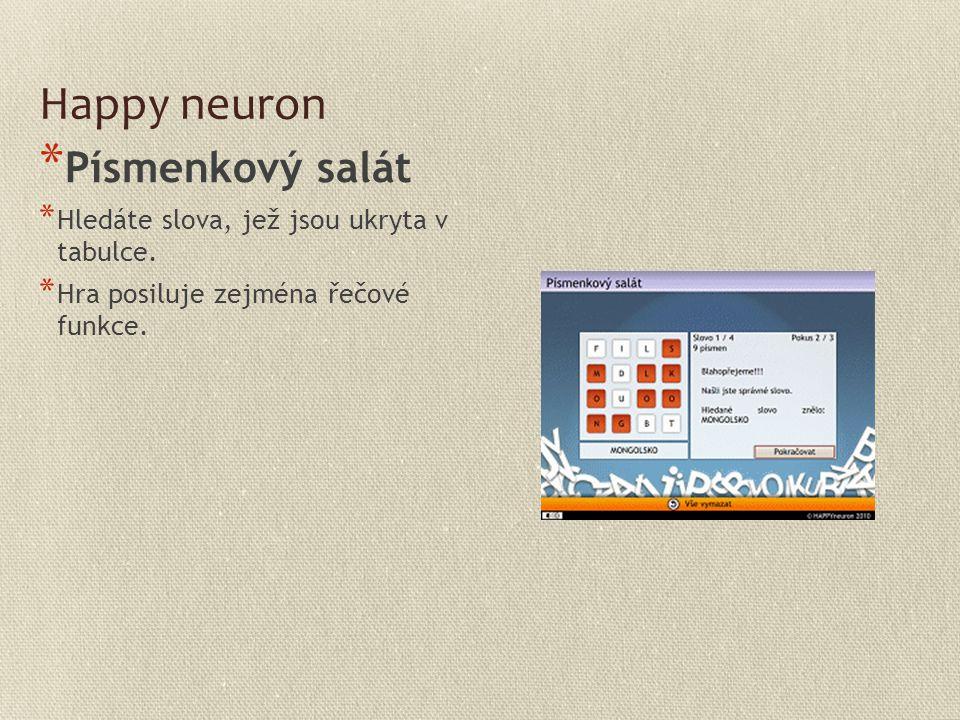 Happy neuron Písmenkový salát