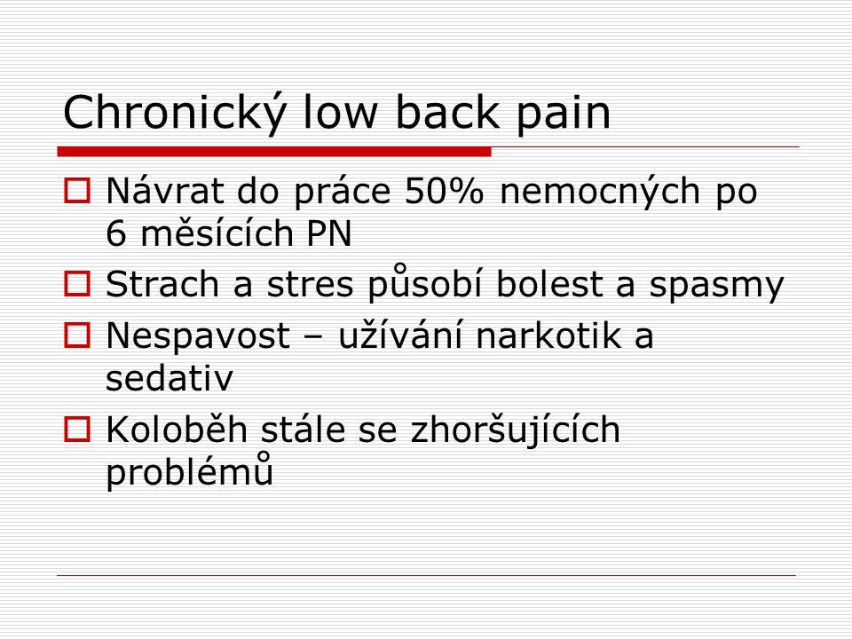Chronický low back pain