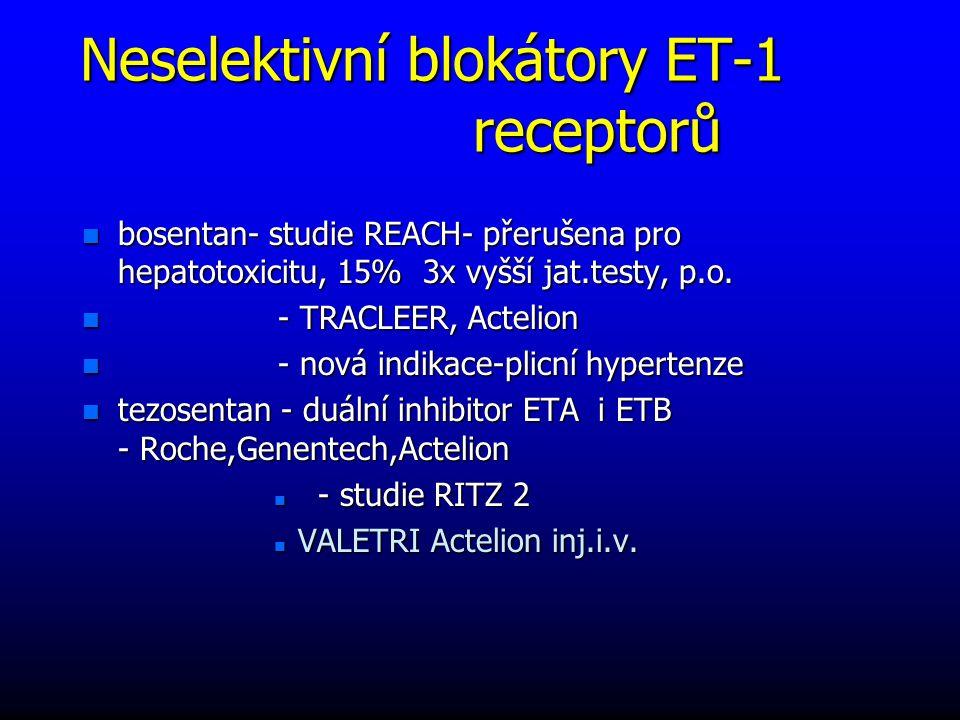 Neselektivní blokátory ET-1 receptorů