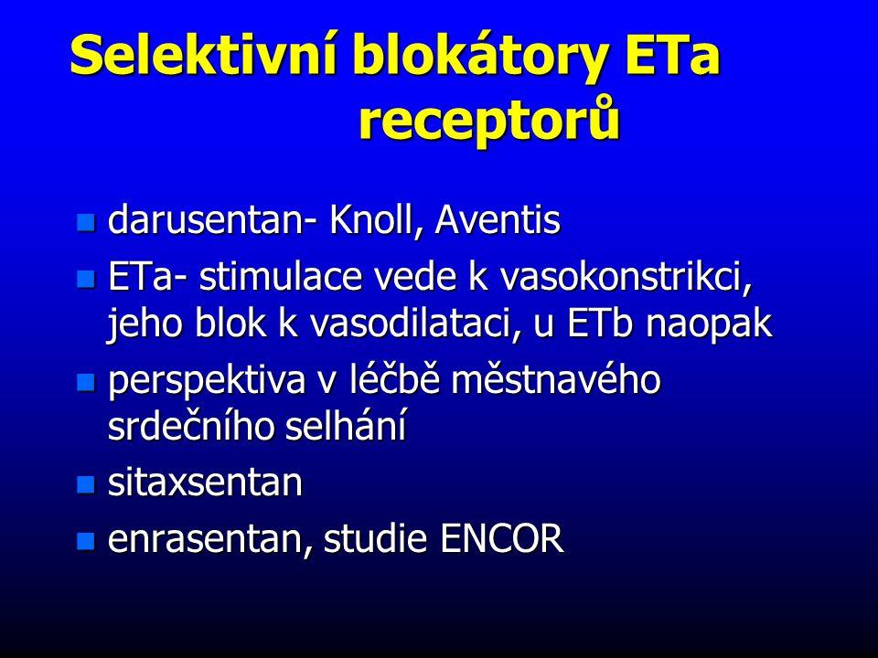Selektivní blokátory ETa receptorů