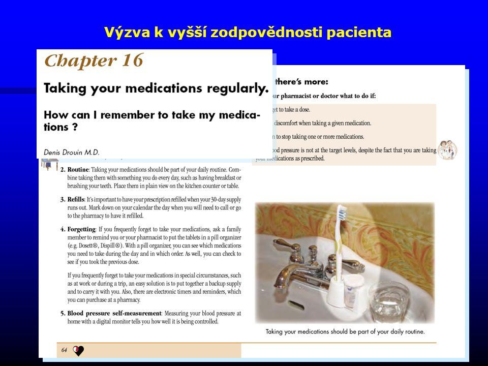 Výzva k vyšší zodpovědnosti pacienta