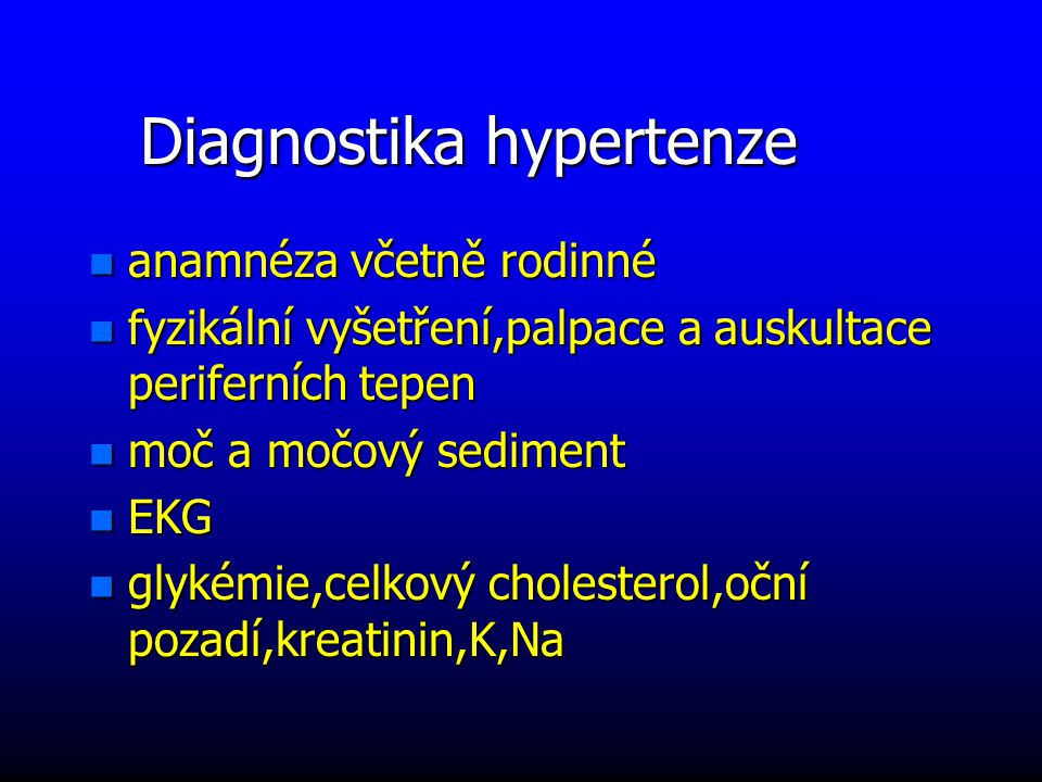 Diagnostika hypertenze