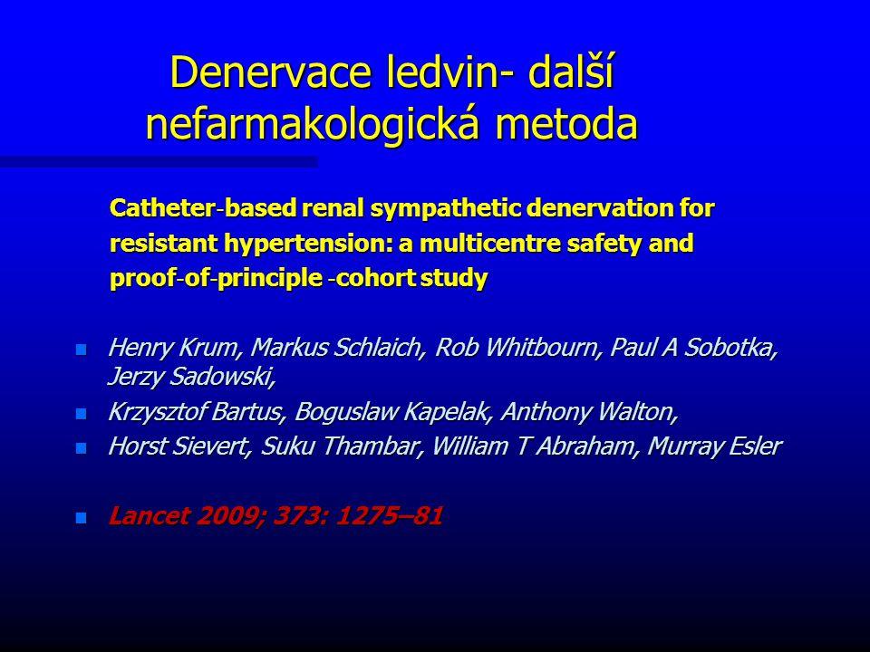 Denervace ledvin- další nefarmakologická metoda