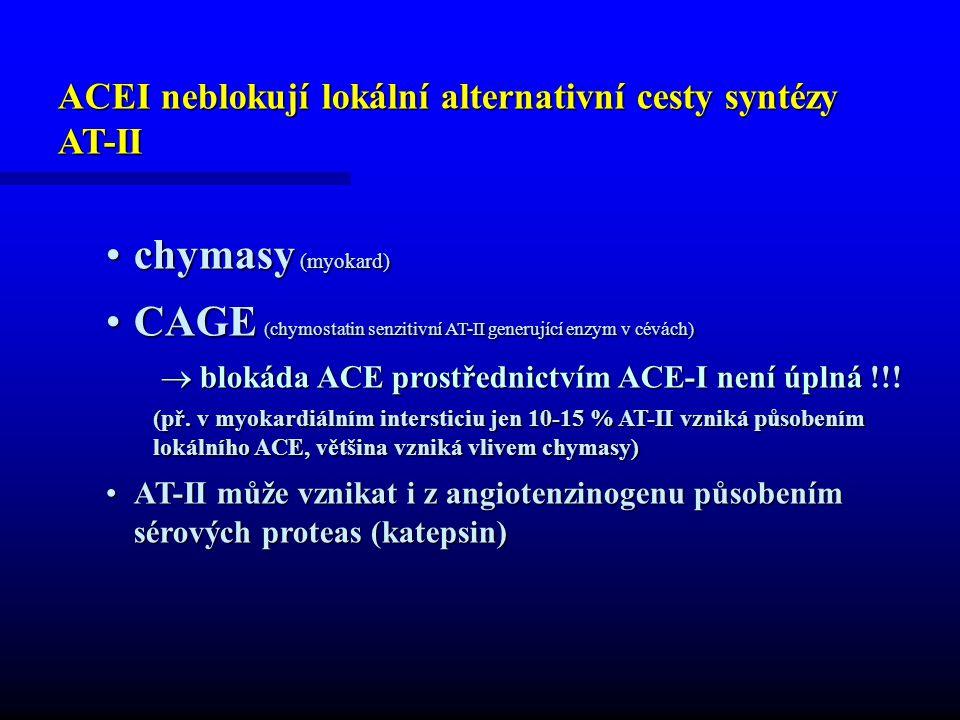 CAGE (chymostatin senzitivní AT-II generující enzym v cévách)