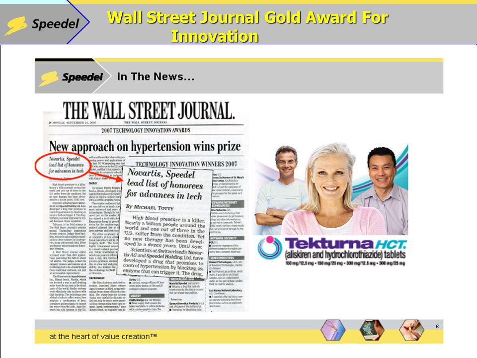 Wall Street Journal Gold Award For Innovation