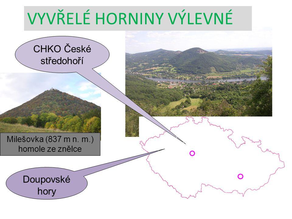 Milešovka (837 m n. m.) homole ze znělce