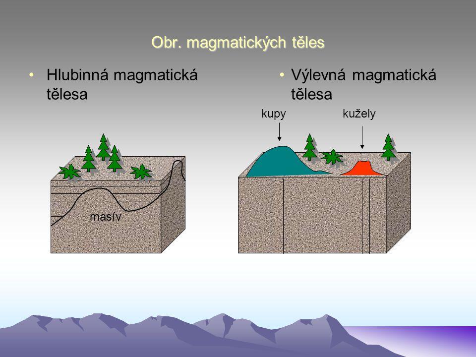 Obr. magmatických těles