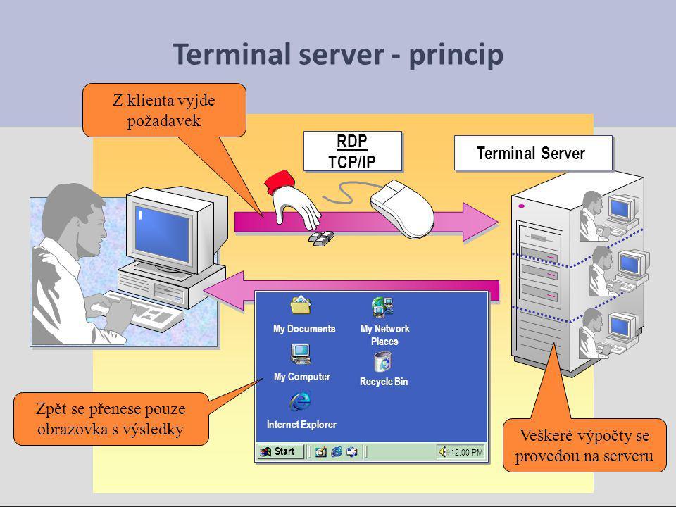 Terminal server - princip