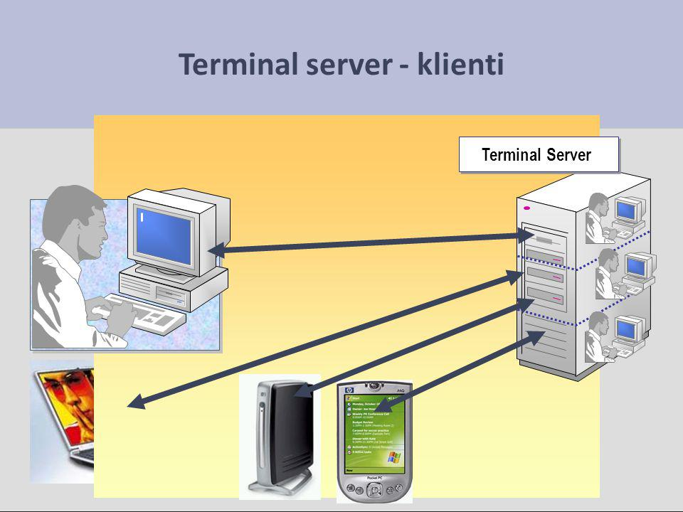 Terminal server - klienti