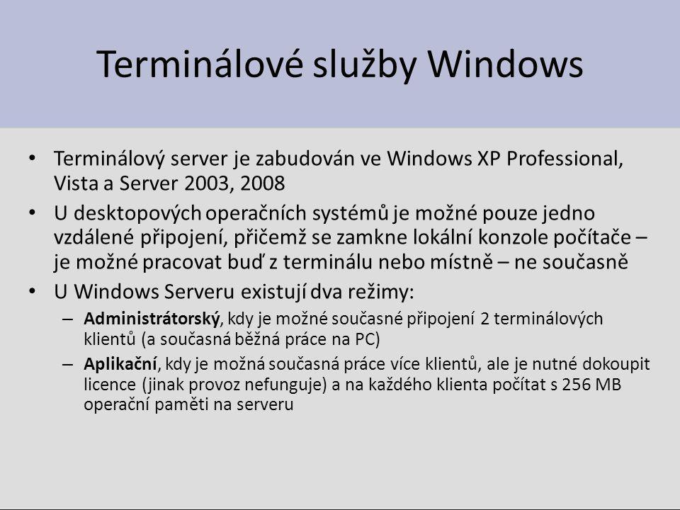 Terminálové služby Windows
