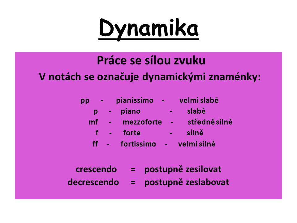 Dynamika Práce se sílou zvuku