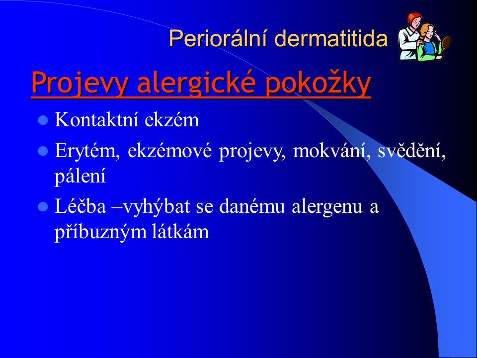 Projevy alergické pokožky