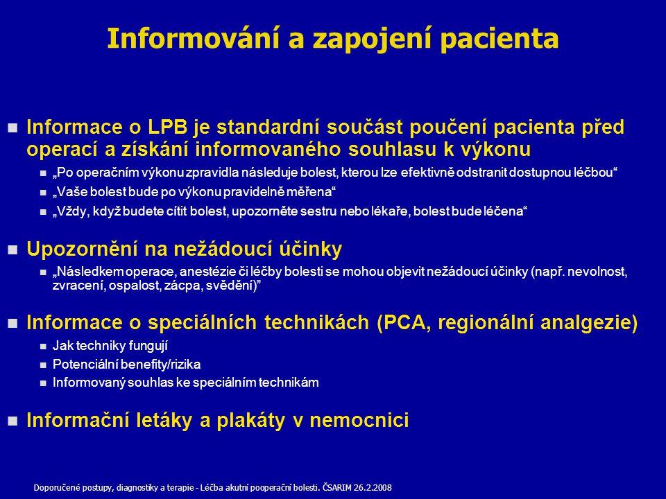 Informování a zapojení pacienta