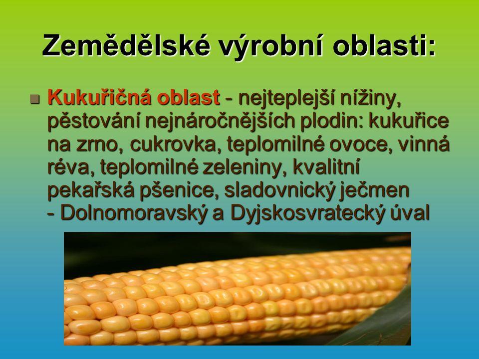 Zemědělské výrobní oblasti: