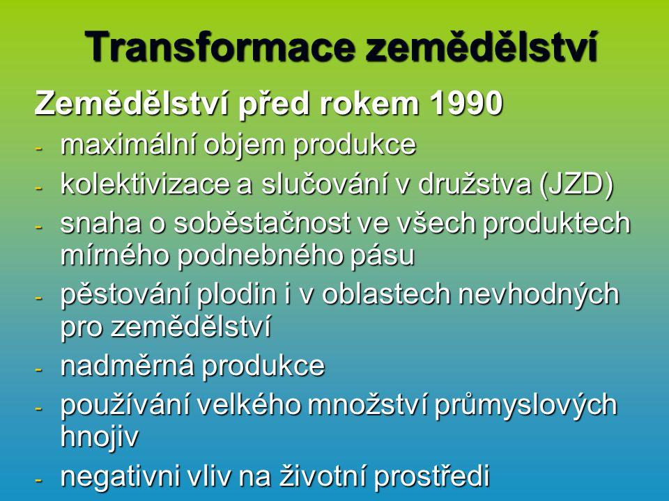 Transformace zemědělství