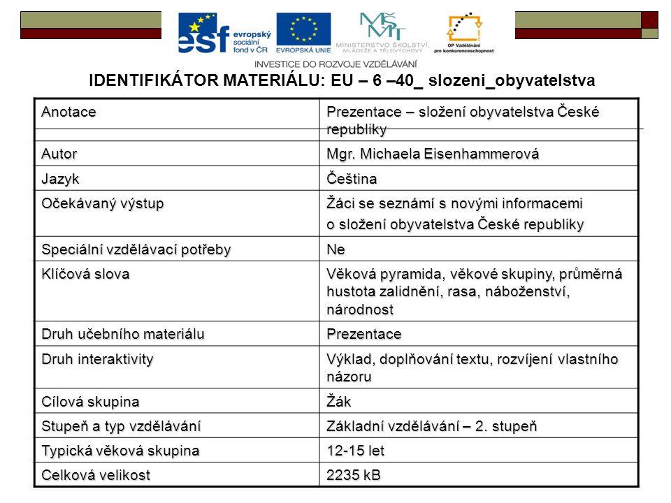 IDENTIFIKÁTOR MATERIÁLU: EU – 6 –40_ slozeni_obyvatelstva