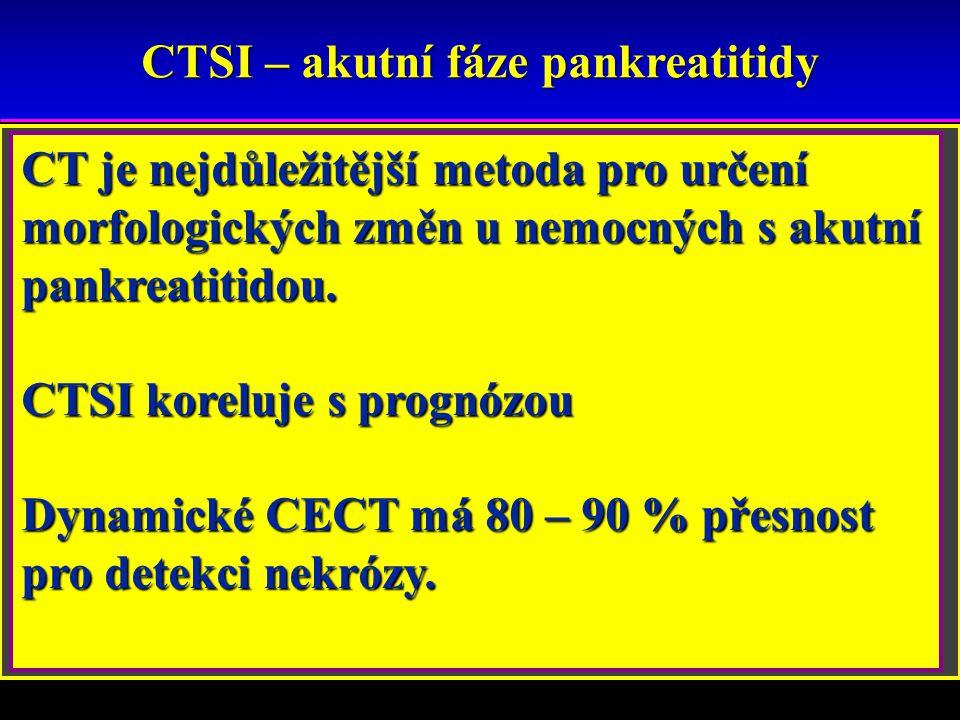 CTSI – akutní fáze pankreatitidy