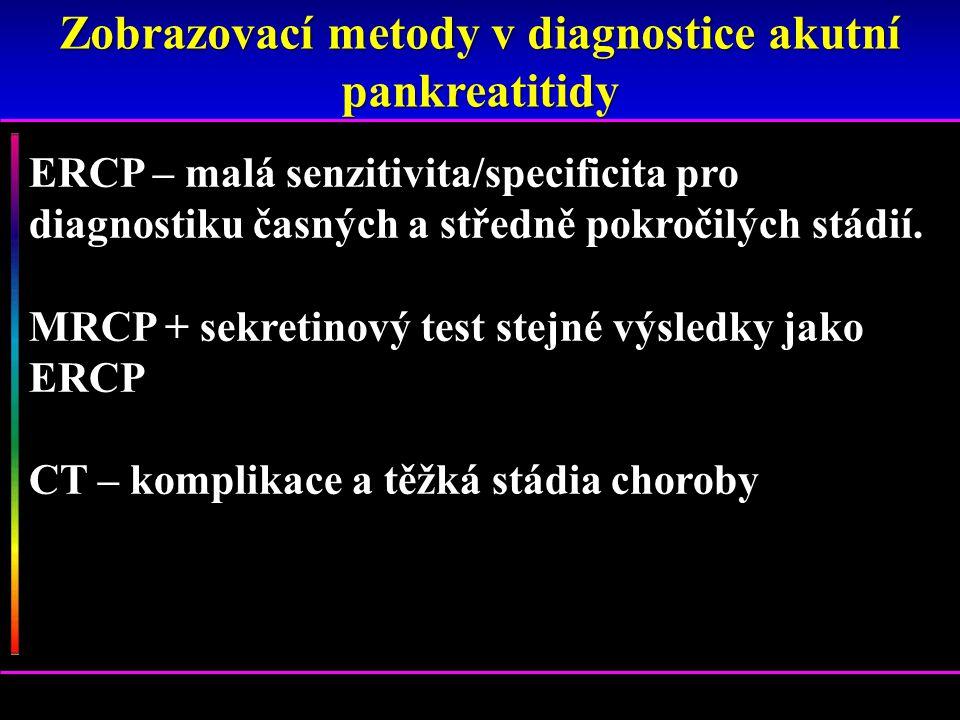 Zobrazovací metody v diagnostice akutní pankreatitidy