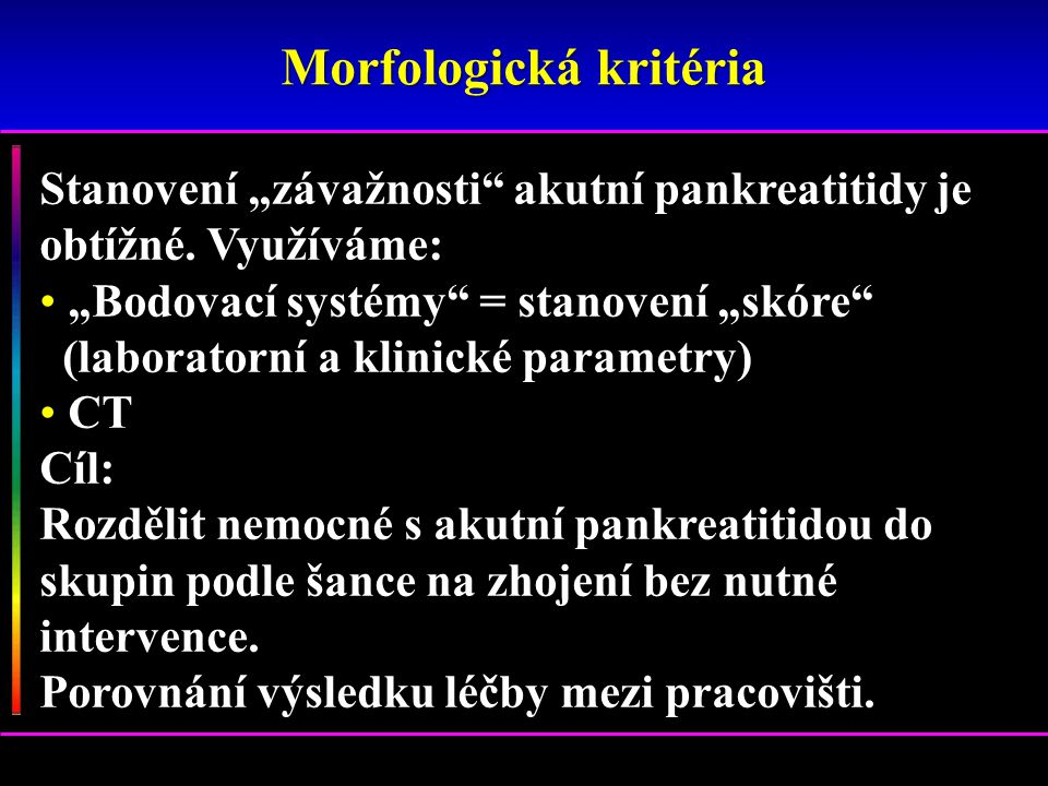 Morfologická kritéria