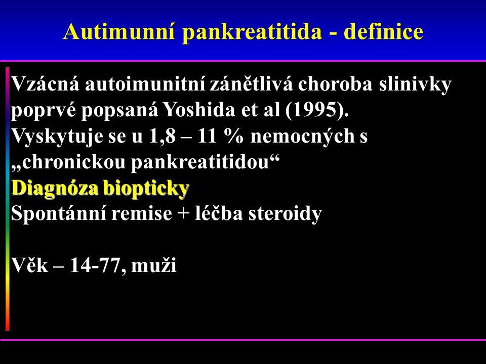 Autimunní pankreatitida - definice