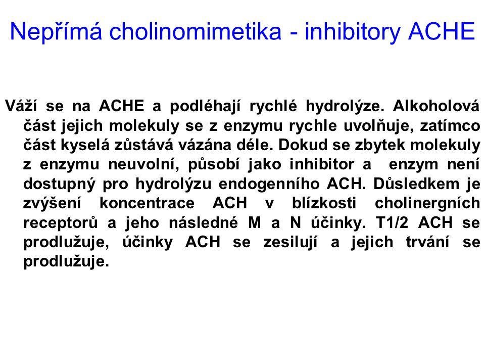 Nepřímá cholinomimetika - inhibitory ACHE