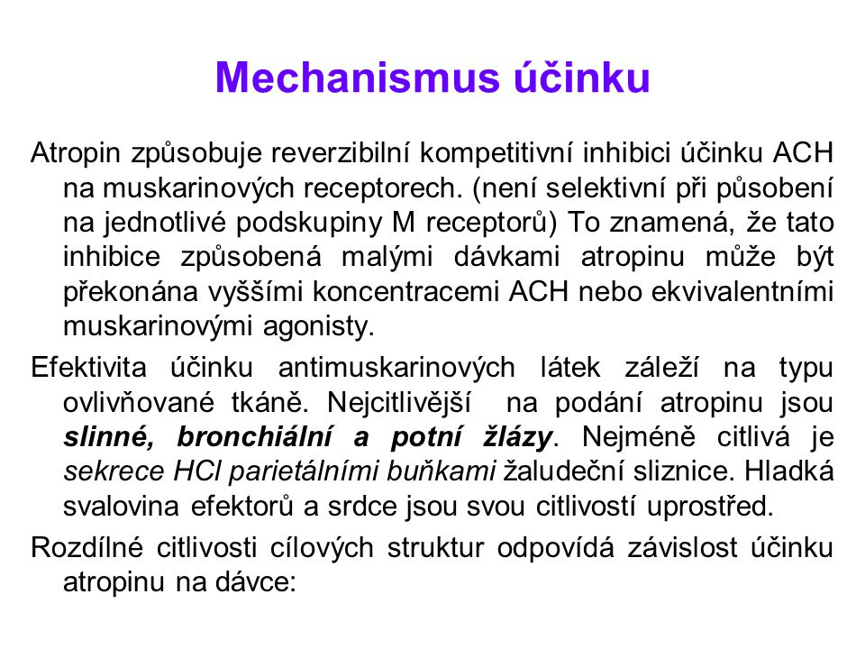 Mechanismus účinku