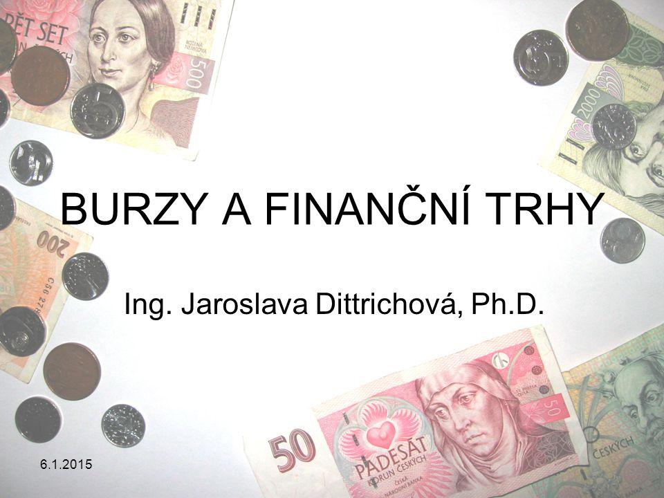 Ing. Jaroslava Dittrichová, Ph.D.