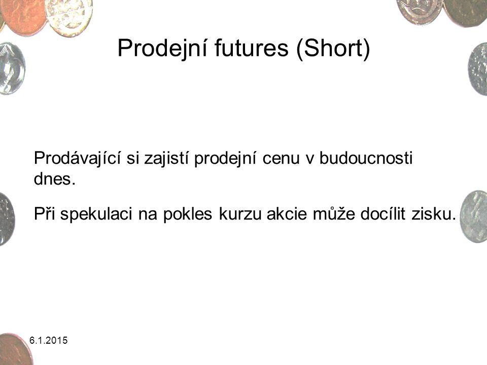 Prodejní futures (Short)
