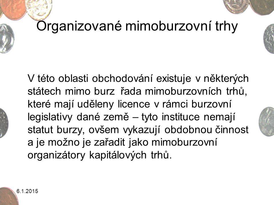 Organizované mimoburzovní trhy