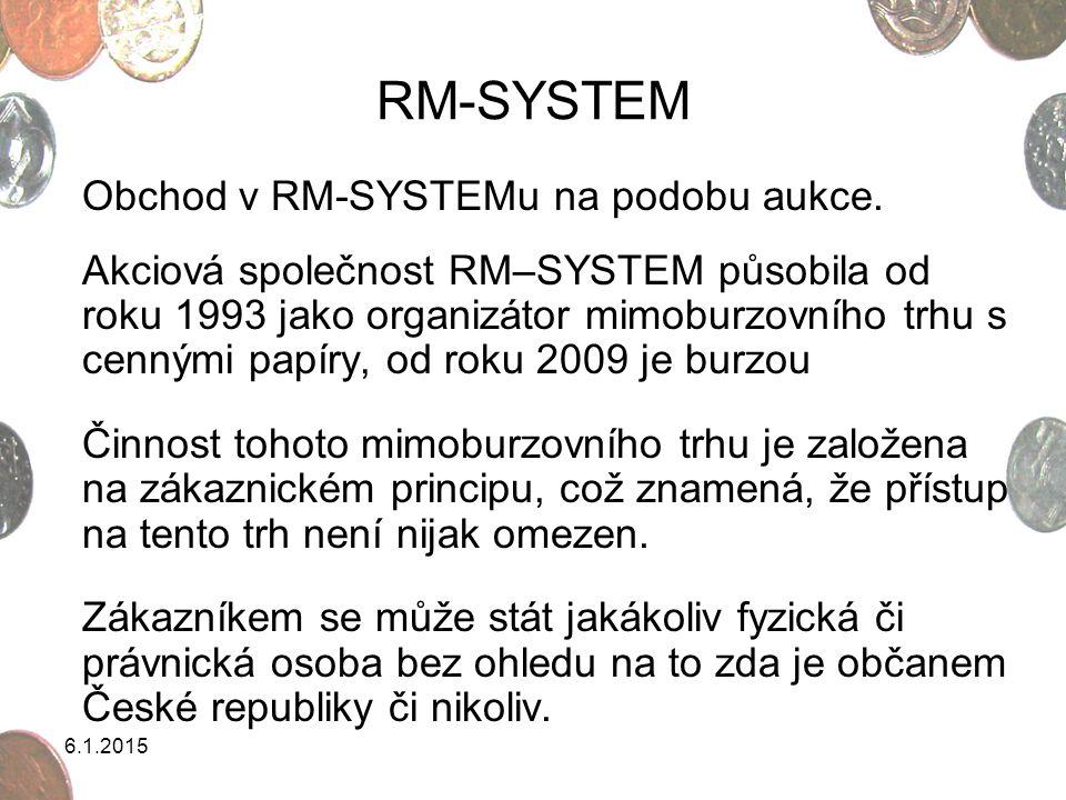 RM-SYSTEM Obchod v RM-SYSTEMu na podobu aukce.