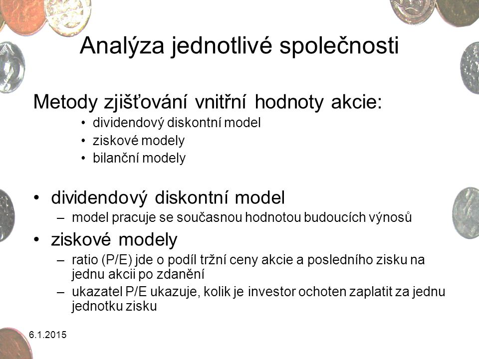 Analýza jednotlivé společnosti