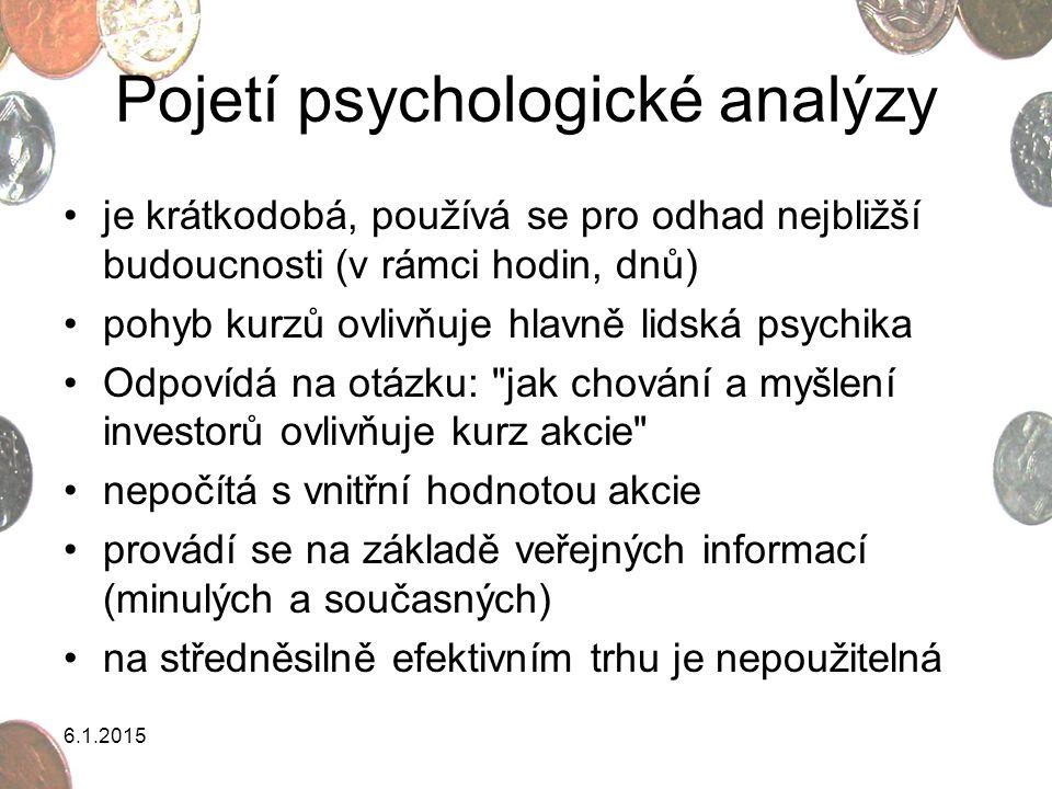 Pojetí psychologické analýzy