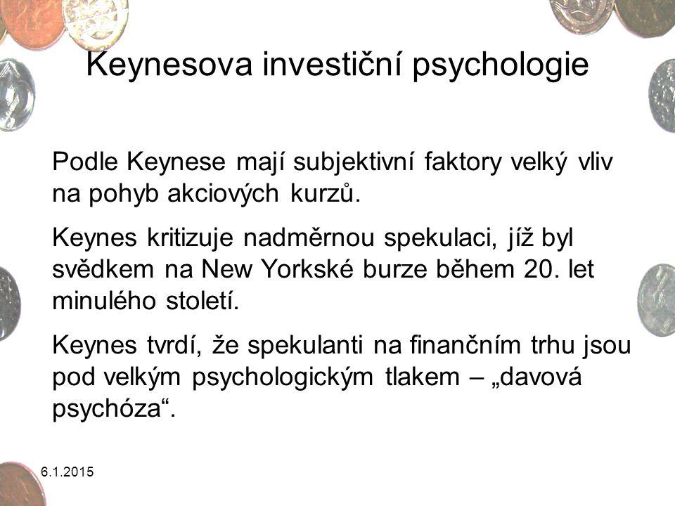 Keynesova investiční psychologie