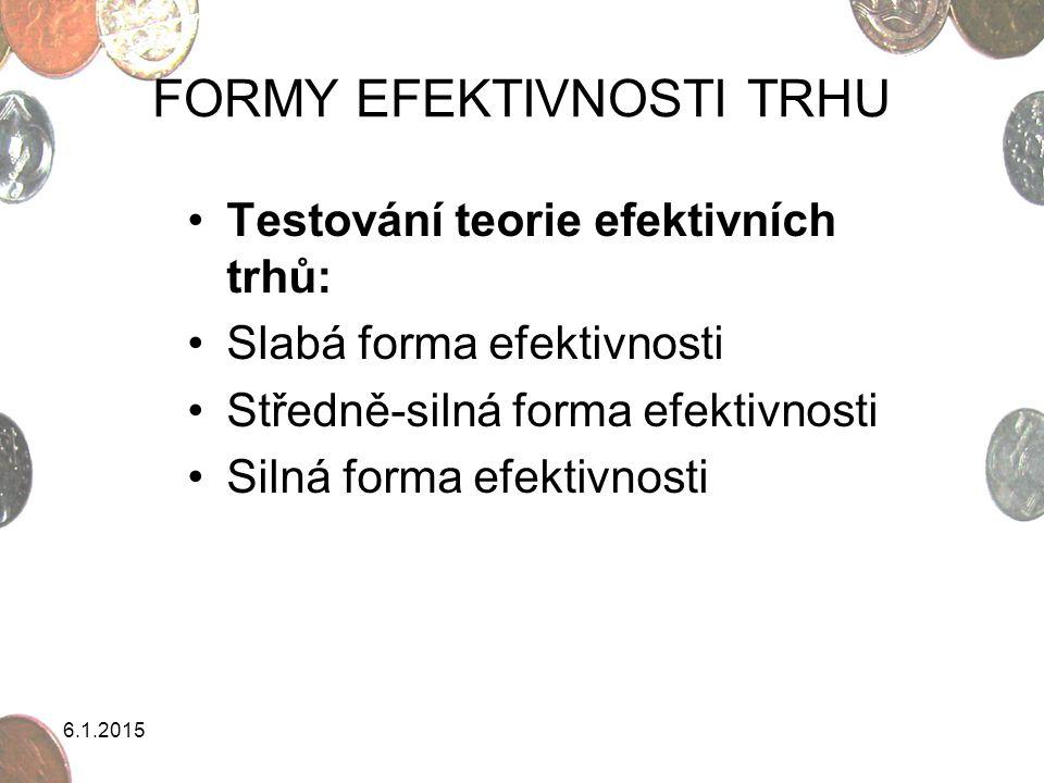 FORMY EFEKTIVNOSTI TRHU