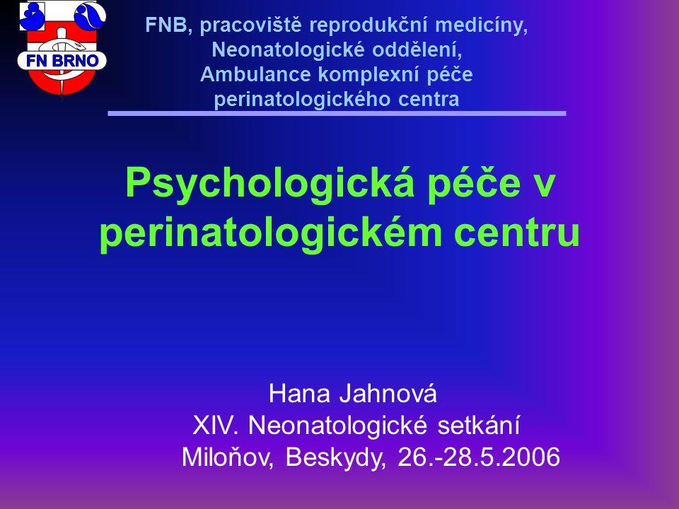 Psychologická péče v perinatologickém centru