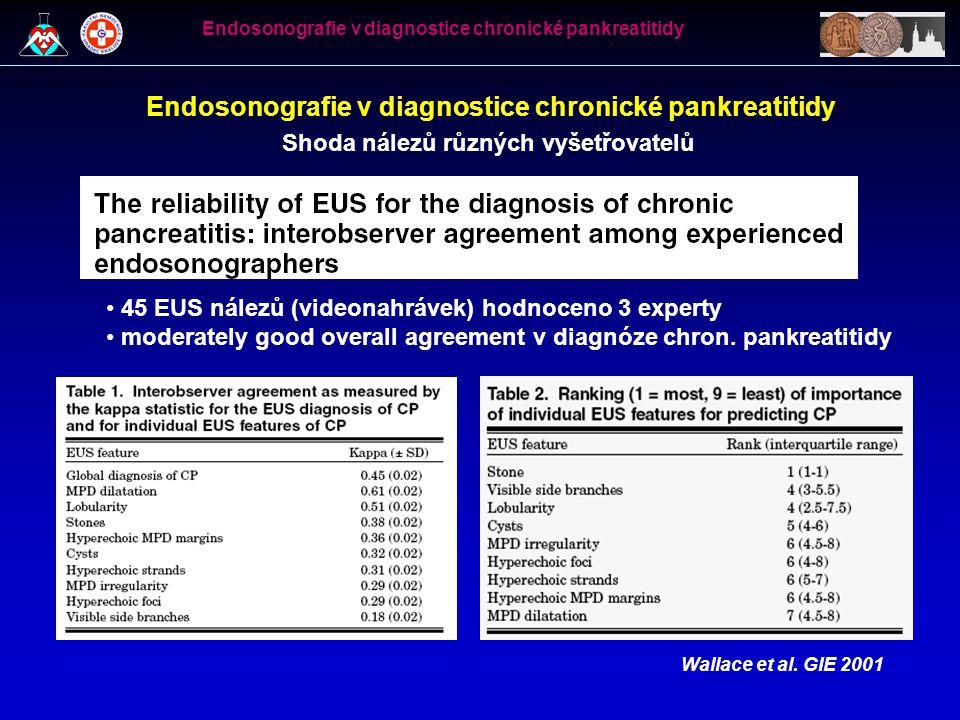 Endosonografie v diagnostice chronické pankreatitidy