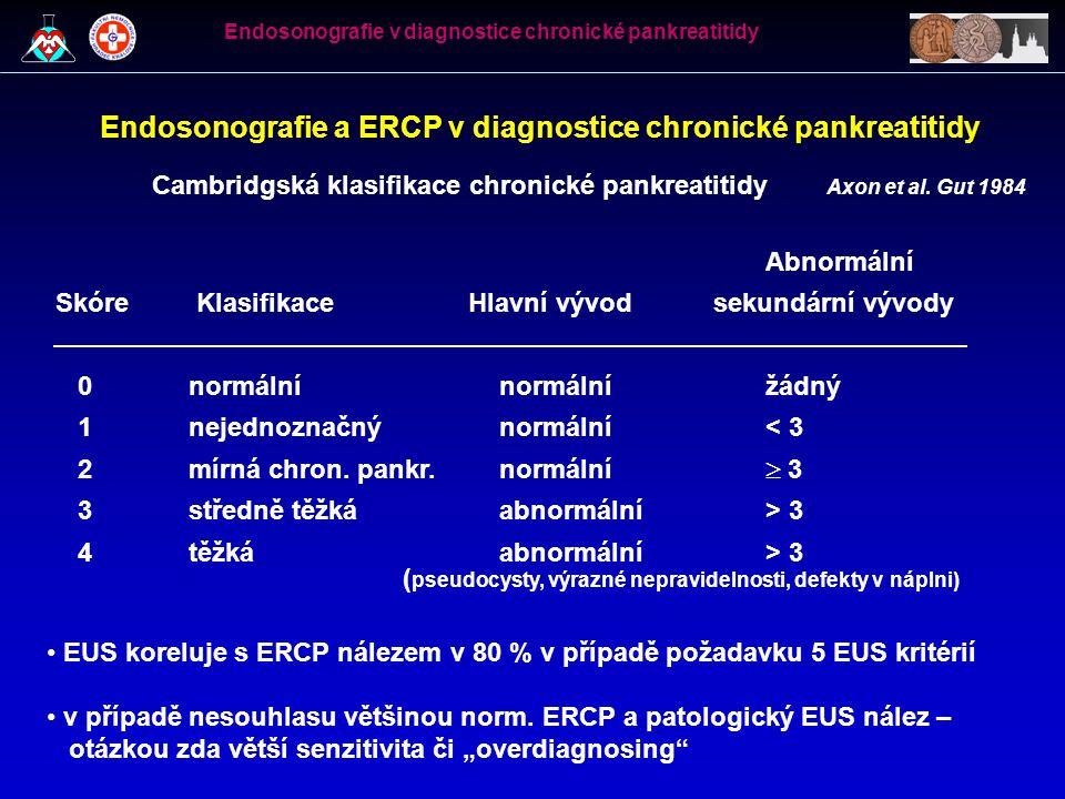 Endosonografie a ERCP v diagnostice chronické pankreatitidy