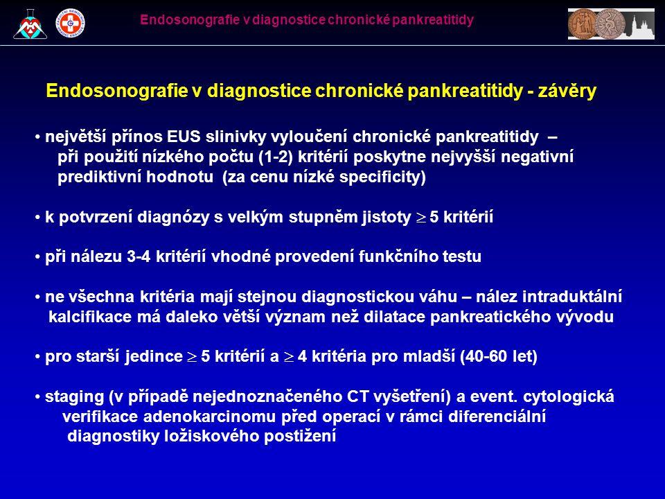 Endosonografie v diagnostice chronické pankreatitidy - závěry