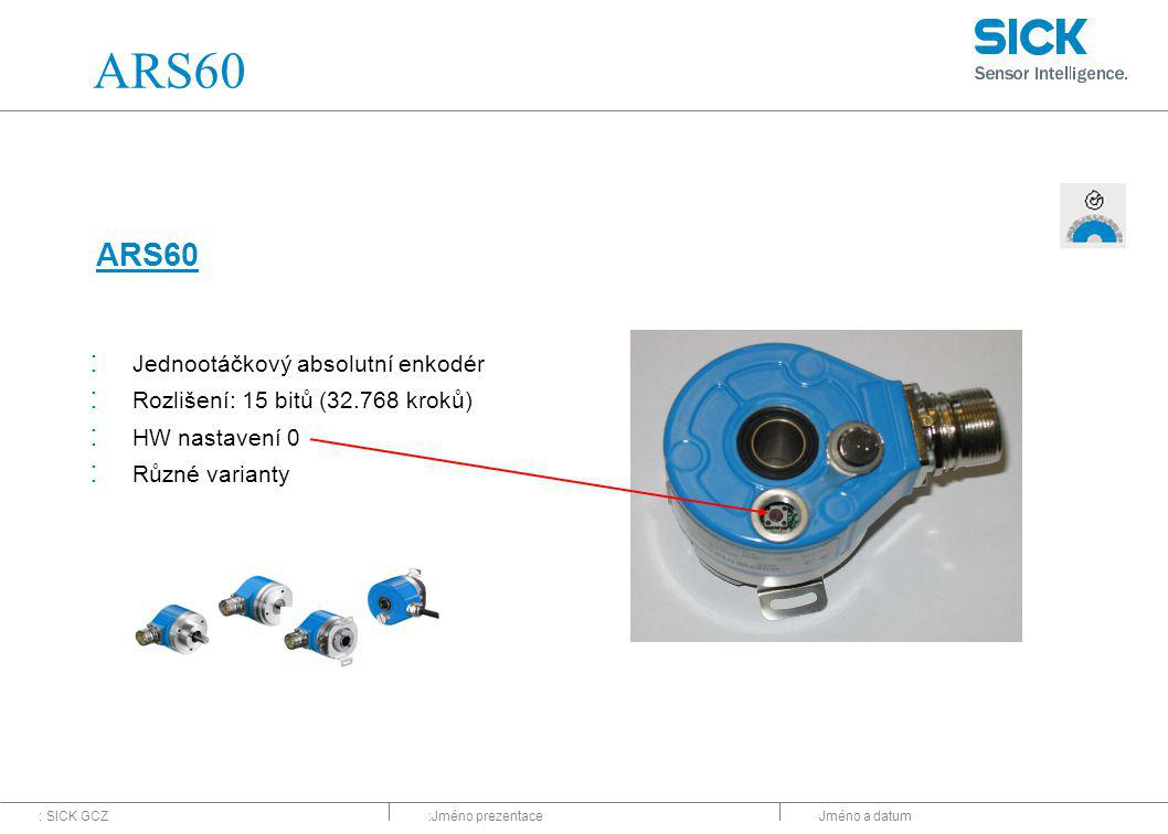 ARS60 ARS60 Jednootáčkový absolutní enkodér