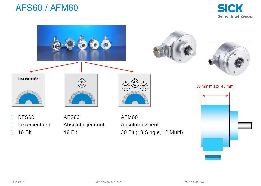 AFS60 / AFM60 DFS60 Inkrementální 16 Bit AFS60 Absolutní jednoot.