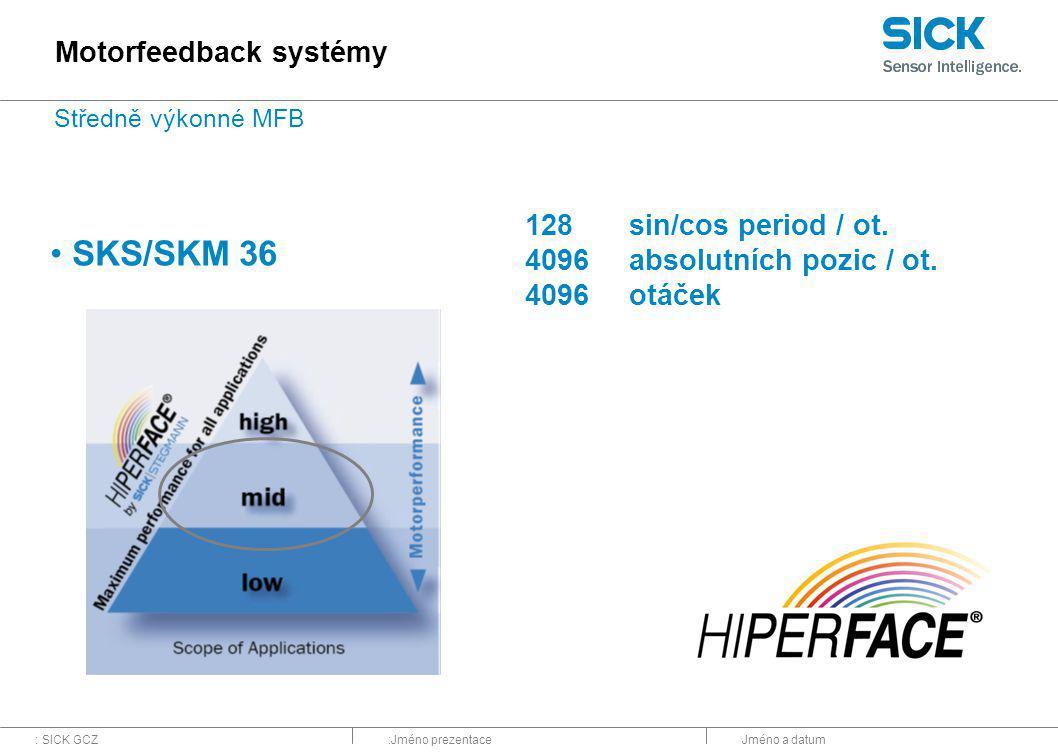 SKS/SKM 36 Motorfeedback systémy 128 sin/cos period / ot.