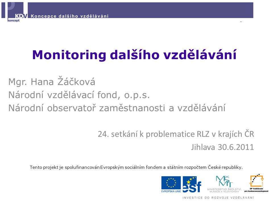 Monitoring dalšího vzdělávání