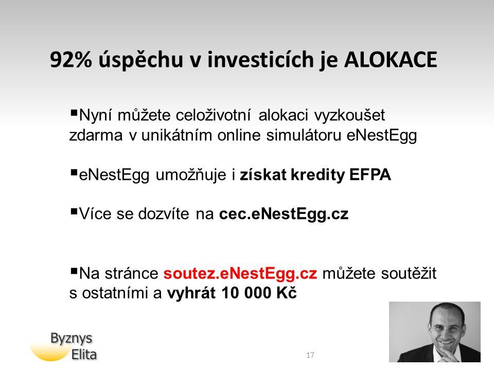 92% úspěchu v investicích je ALOKACE
