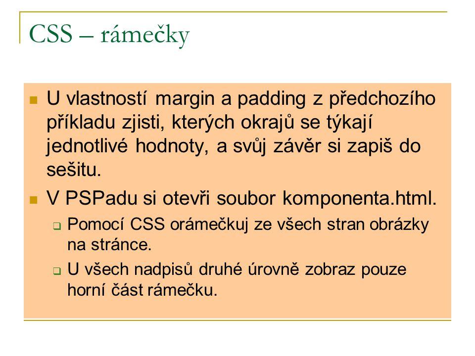 CSS – rámečky