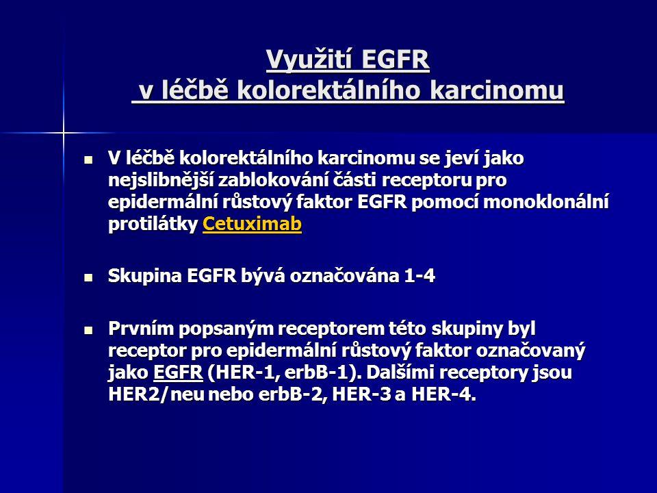 Využití EGFR v léčbě kolorektálního karcinomu