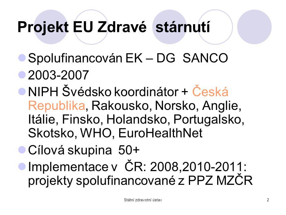 Projekt EU Zdravé stárnutí