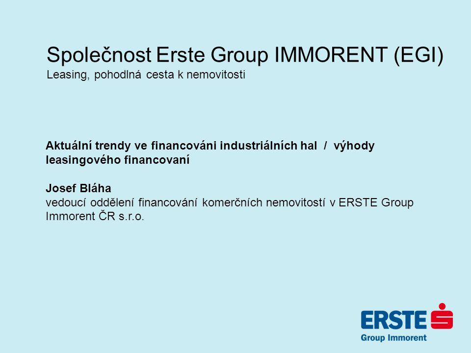 Společnost Erste Group IMMORENT (EGI)