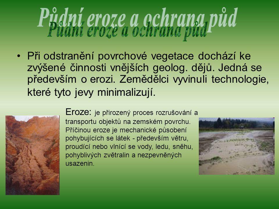 Půdní eroze a ochrana půd